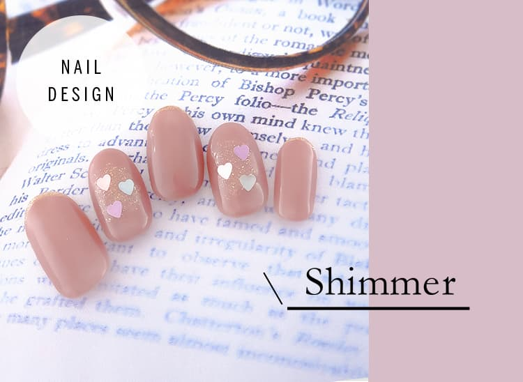 最新 冬ネイルデザイン Shimmer(シマー)ネイルデザイン